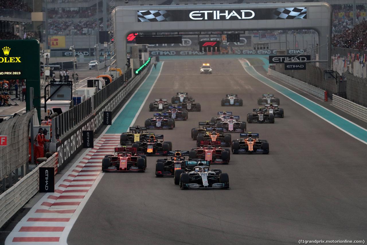GP ABU DHABI, 01.12.2019 - Gara, Start of the race