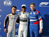 GP ABU DHABI, (L to R): Nyck De Vries (NLD) ART Grand Prix, F2 Champion; Lewis Hamilton (GBR) Mercedes AMG F1, F1 World Champion; Robert Shwartzman (RUS) Prema Racing, F3 Champion. 01.12.2019.