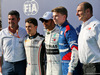 GP ABU DHABI, (L to R): Michael Masi (AUS) FIA Gara Director; Nyck De Vries (NLD) ART Grand Prix, F2 Champion; Lewis Hamilton (GBR) Mercedes AMG F1, F1 World Champion; Robert Shwartzman (RUS) Prema Racing, F3 Champion; Bruno Michel (FRA) F2 e F3 CEO. 01.12.2019.