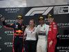 GP ABU DHABI, 01.12.2019 - Gara, 2nd place Max Verstappen (NED) Red Bull Racing RB15, Lewis Hamilton (GBR) Mercedes AMG F1 W10 vincitore e 3rd place Charles Leclerc (MON) Ferrari SF90
