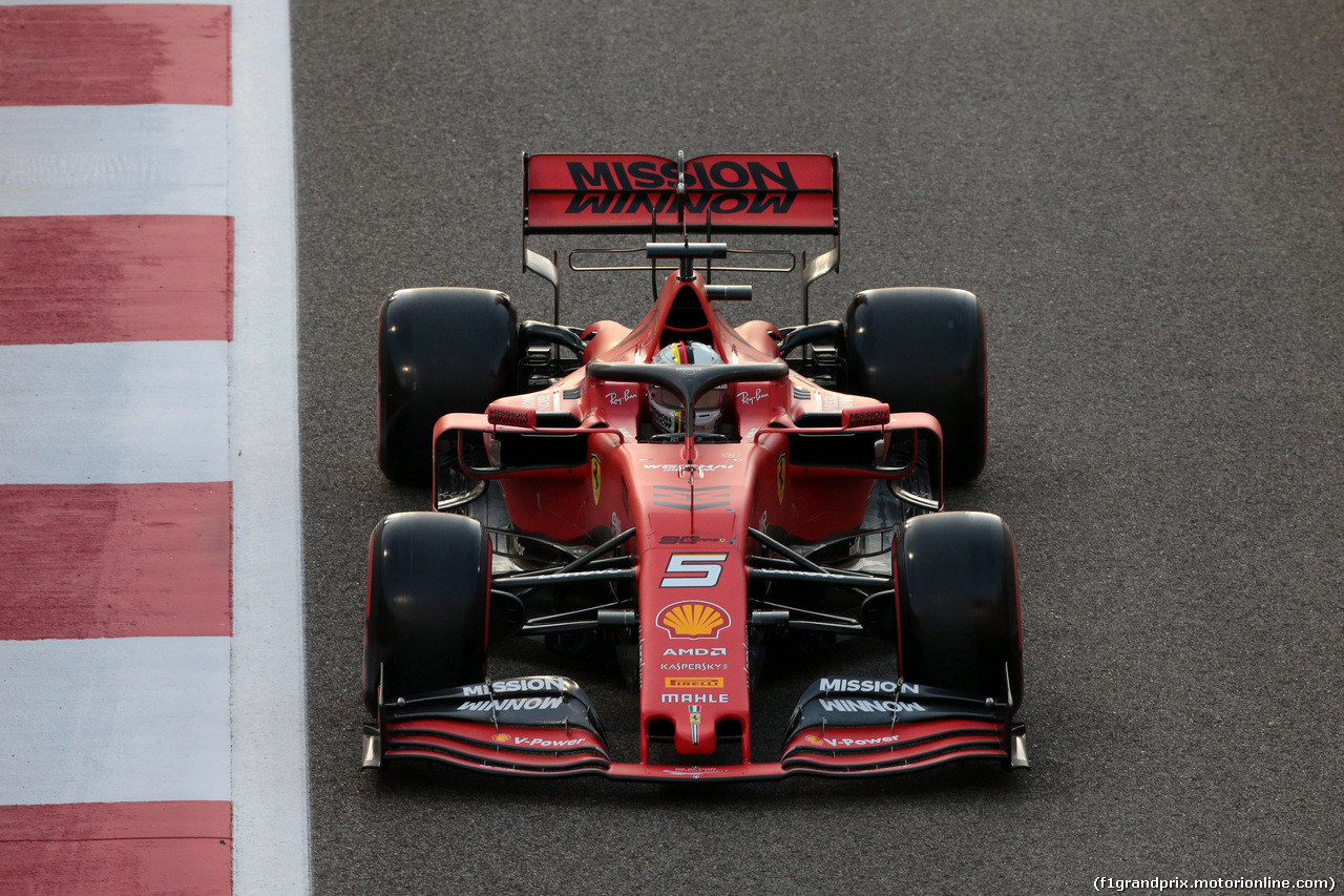 GP ABU DHABI, 30.11.2019 -  Sebastian Vettel (GER) Ferrari SF90