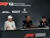 GP ABU DHABI, Qualifiche top three in the FIA Press Conference (L to R): Valtteri Bottas (FIN) Mercedes AMG F1, second; Lewis Hamilton (GBR) Mercedes AMG F1, pole position; Max Verstappen (NLD) Red Bull Racing, third. 30.11.2019.