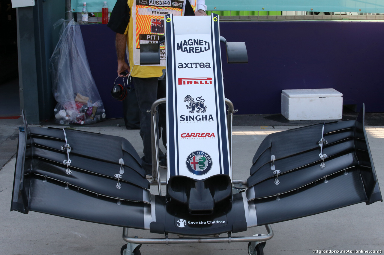 GP AUSTRALIA, 17.03.2019- Alfa Romeo Racing C38 Frontal Wing