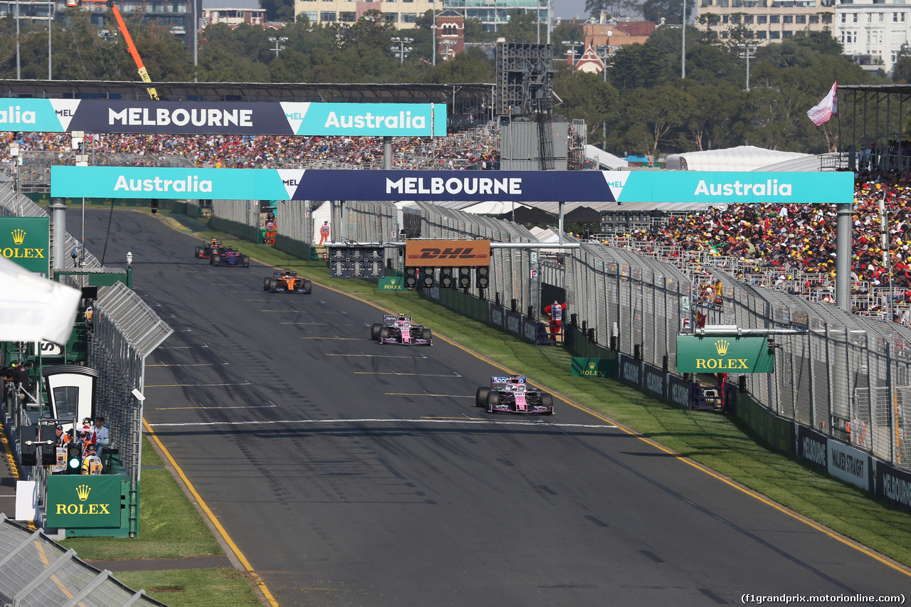 GP AUSTRALIA, 17.03.2019- race: Sergio Perez (MEX) Racing Point F1 RP19