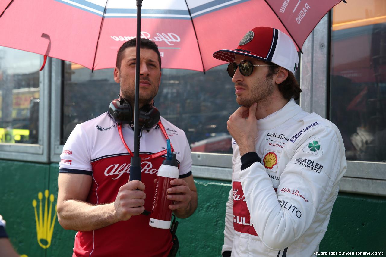 GP AUSTRALIA, 17.03.2019- grid, Antonio Giovinazzi (ITA) Alfa Romeo Racing C38