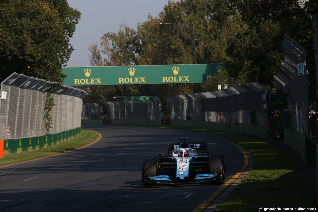 GP AUSTRALIA, 17.03.2019- race, George Russell (GBR) Williams F1 FW42