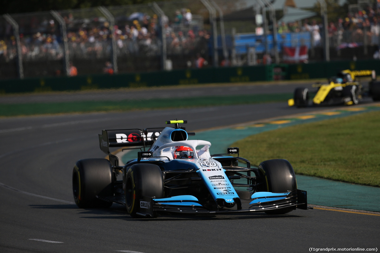 GP AUSTRALIA, 17.03.2019- race, Robert Kubica (POL) Williams F1 FW42