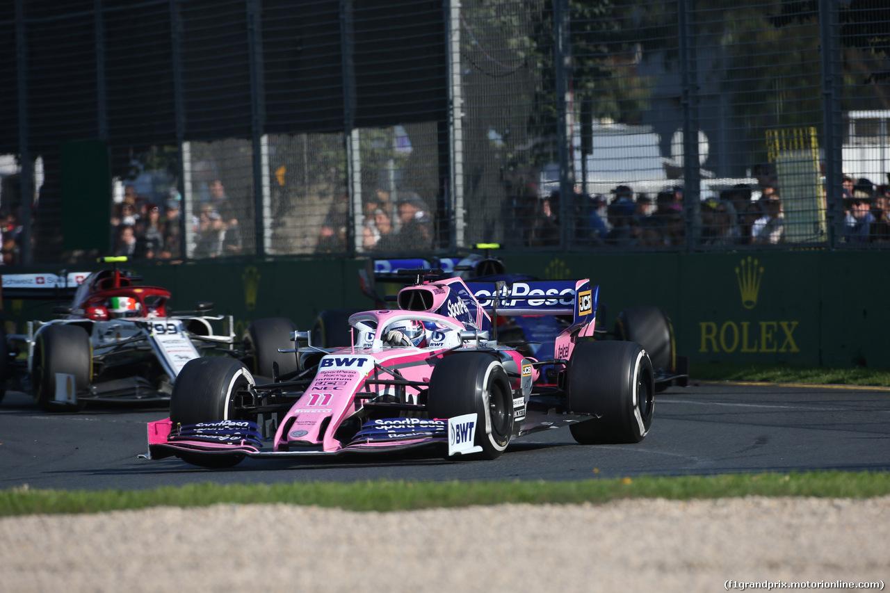 GP AUSTRALIA, 17.03.2019- race, Sergio Perez (MEX) Racing Point F1 RP19