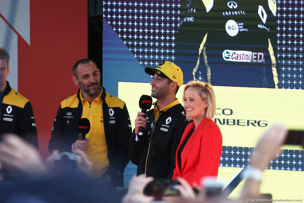 GP AUSTRALIA, 13.03.2019 - Season Launche Event  in Melbourne, L to R Cyril Abiteboul (FRA) Renault Sport F1 Managing Director  and