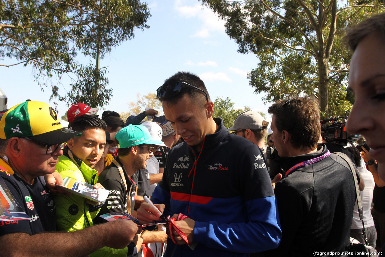 GP AUSTRALIA, 14.03.2019- Alexader Albon (THA) Scuderia Toro Rosso STR14