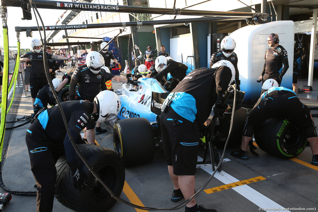 GP AUSTRALIA, 14.03.2019- Team Williams tests pits stop
