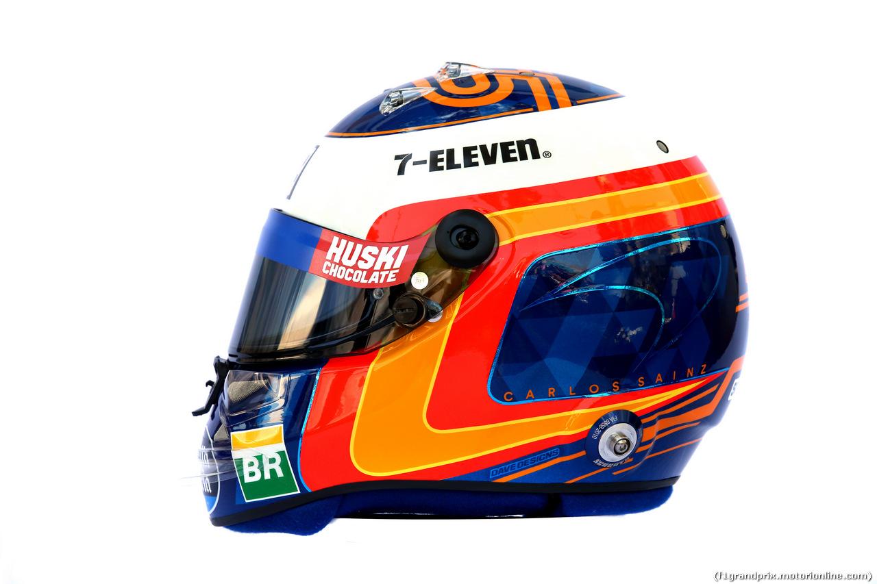GP AUSTRALIA, The helmet of Carlos Sainz Jr (ESP) McLaren. 14.03.2019.