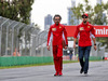 GP AUSTRALIA, Sebastian Vettel (GER) Ferrari walks the circuit with Laurent Mekies (FRA) Ferrari Sporting Director. 13.03.2019.