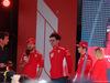 GP AUSTRALIA, 13.03.2019 - Season Launche Event  in Melbourne, L to R Sebastian Vettel (GER) Ferrari SF90, Mattia Binotto (ITA) Ferrari Team Principal e Charles Leclerc (MON) Ferrari SF90