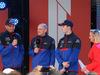 GP AUSTRALIA, 13.03.2019 - Season Launche Event  in Melbourne, L to R Alexader Albon (THA) Scuderia Toro Rosso STR14, Franz Tost, Scuderia Toro Rosso, Team Principal e Daniil Kvyat (RUS) Scuderia Toro Rosso STR14