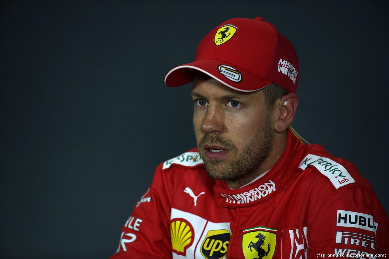 GP AZERBAIJAN, 27.04.2019 - Qualifiche, Conferenza Stampa, Sebastian Vettel (GER) Ferrari SF90