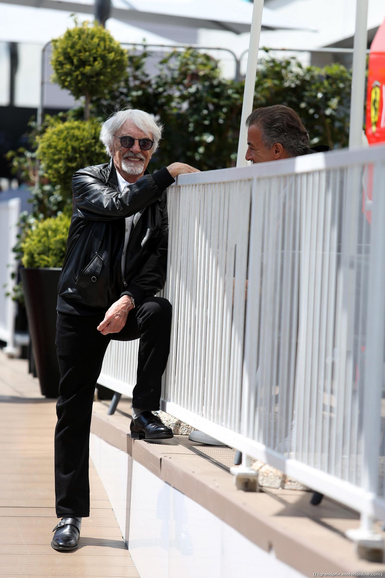 GP AZERBAIJAN, 28.04.2019 - Bernie Ecclestone (GBR) e Jean Alesi (FRA)