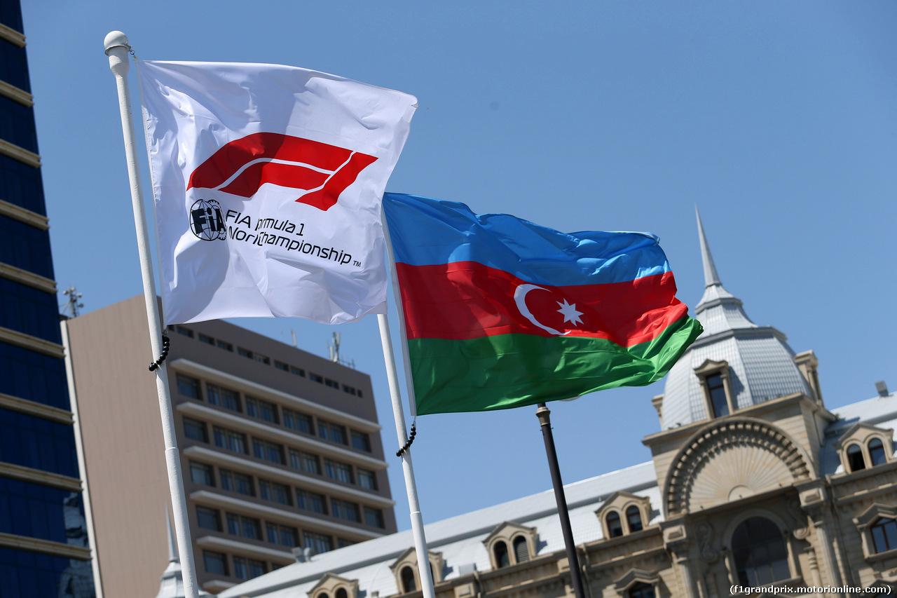 GP AZERBAIJAN, 28.04.2019 - Flags