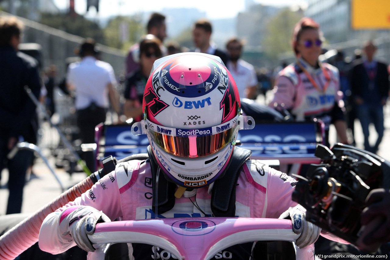 GP AZERBAIJAN, 28.04.2019 - Gara, Sergio Perez (MEX) Racing Point F1 Team RP19
