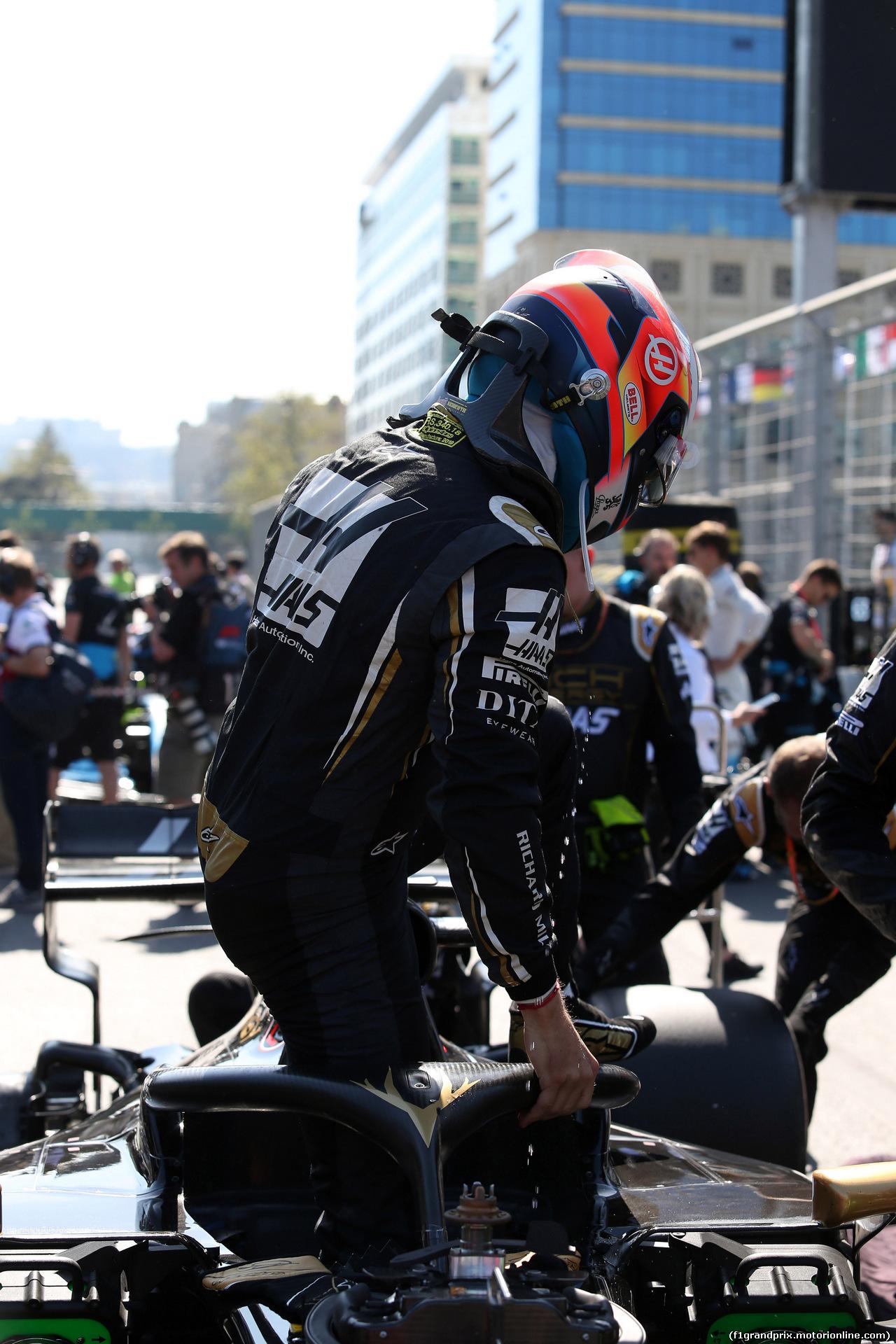 GP AZERBAIJAN, 28.04.2019 - Gara, Romain Grosjean (FRA) Haas F1 Team VF-19