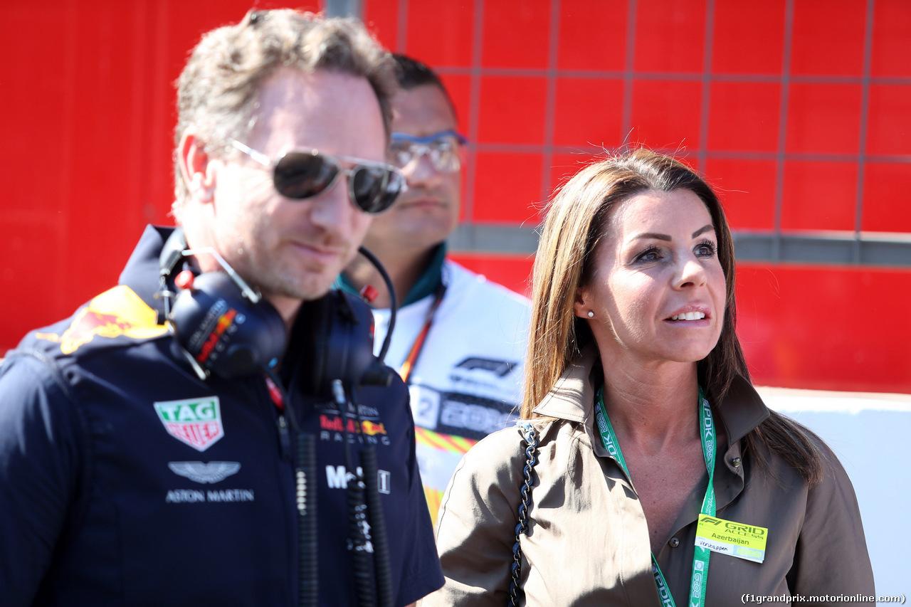 GP AZERBAIJAN, 28.04.2019 - Gara, Sophie Kumpe, mother of Max Verstappen (NED) Red Bull Racing RB15