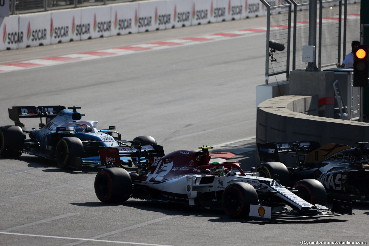 GP AZERBAIJAN, 28.04.2019 - Gara, Antonio Giovinazzi (ITA) Alfa Romeo Racing C38