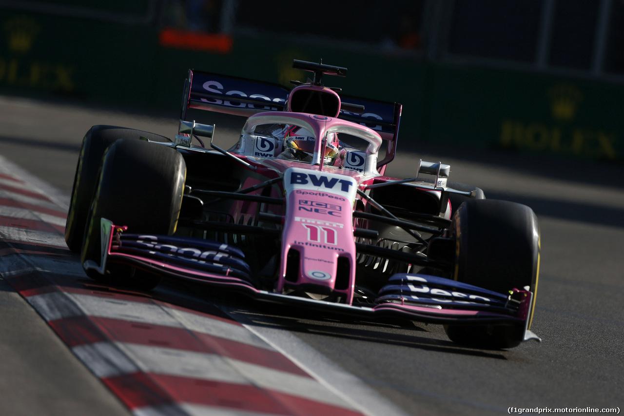 GP AZERBAIJAN, 28.04.2019 - Gara, Sergio Perez (MEX) Racing Point F1 Team RP19