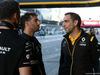 GP AZERBAIJAN, 27.04.2019 - Qualifiche, Daniel Ricciardo (AUS) Renault Sport F1 Team RS19 e Cyril Abiteboul (FRA) Renault Sport F1 Managing Director
