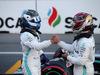 GP AZERBAIJAN, 27.04.2019 - Qualifiche, Valtteri Bottas (FIN) Mercedes AMG F1 W010 pole position e 2nd place Lewis Hamilton (GBR) Mercedes AMG F1 W10