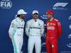 GP AZERBAIJAN, 27.04.2019 - Qualifiche, 2nd place Lewis Hamilton (GBR) Mercedes AMG F1 W10, Valtteri Bottas (FIN) Mercedes AMG F1 W010 pole position e 3rd place Sebastian Vettel (GER) Ferrari SF90