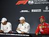 GP AZERBAIJAN, 27.04.2019 - Qualifiche, Conferenza Stampa, Lewis Hamilton (GBR) Mercedes AMG F1 W10, Valtteri Bottas (FIN) Mercedes AMG F1 W010 e Sebastian Vettel (GER) Ferrari SF90