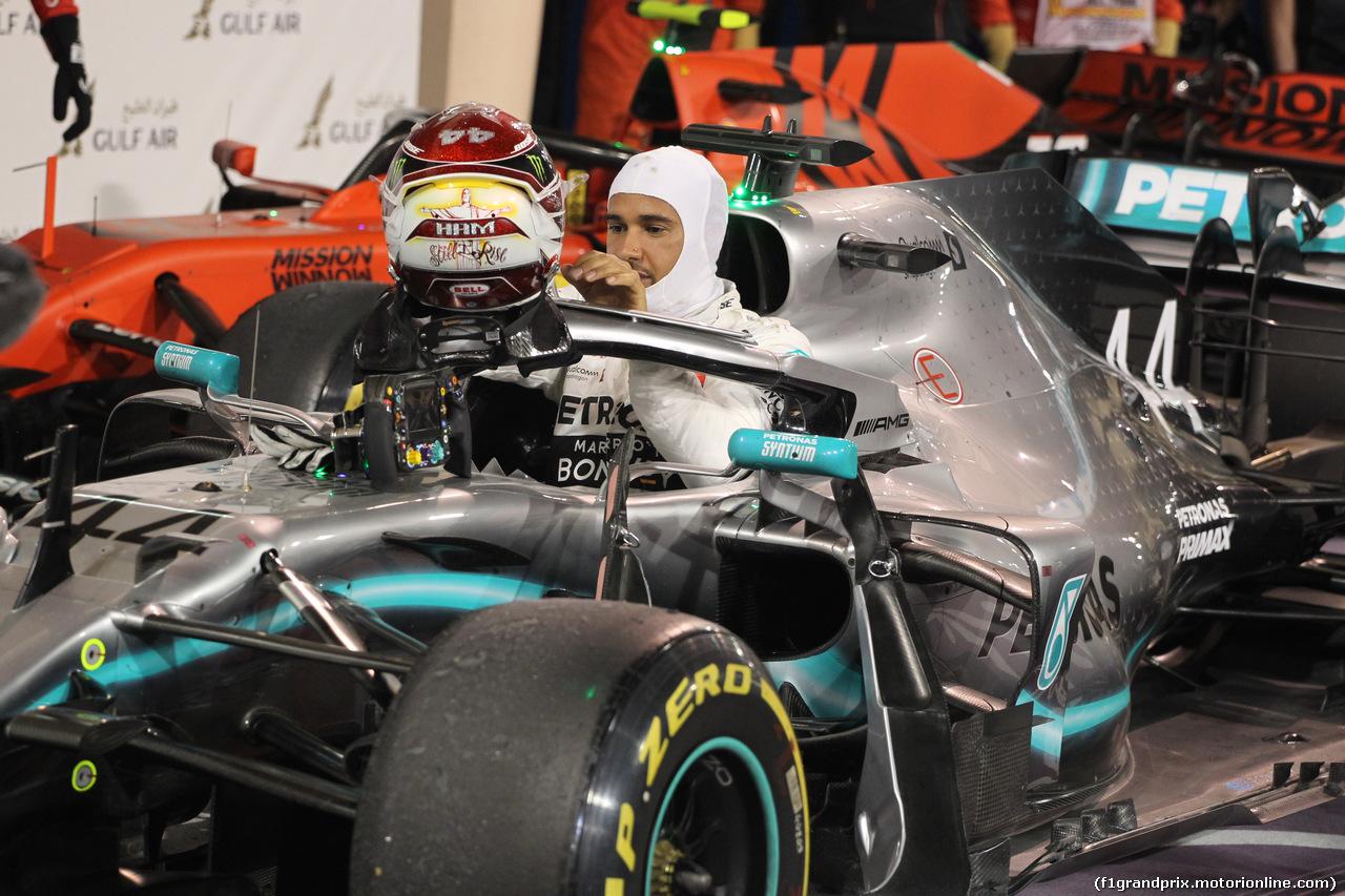 GP BAHRAIN, 31.03.2019- Parc ferme, Lewis Hamilton (GBR) Mercedes AMG F1 W10 EQ Power