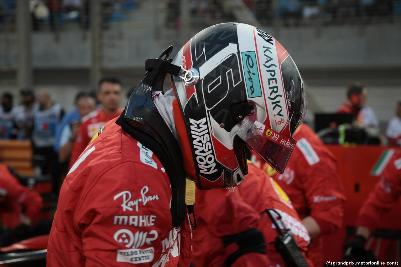 GP BAHRAIN, 31.03.2019- partenzaing grid,  Charles Leclerc (MON) Ferrari SF90