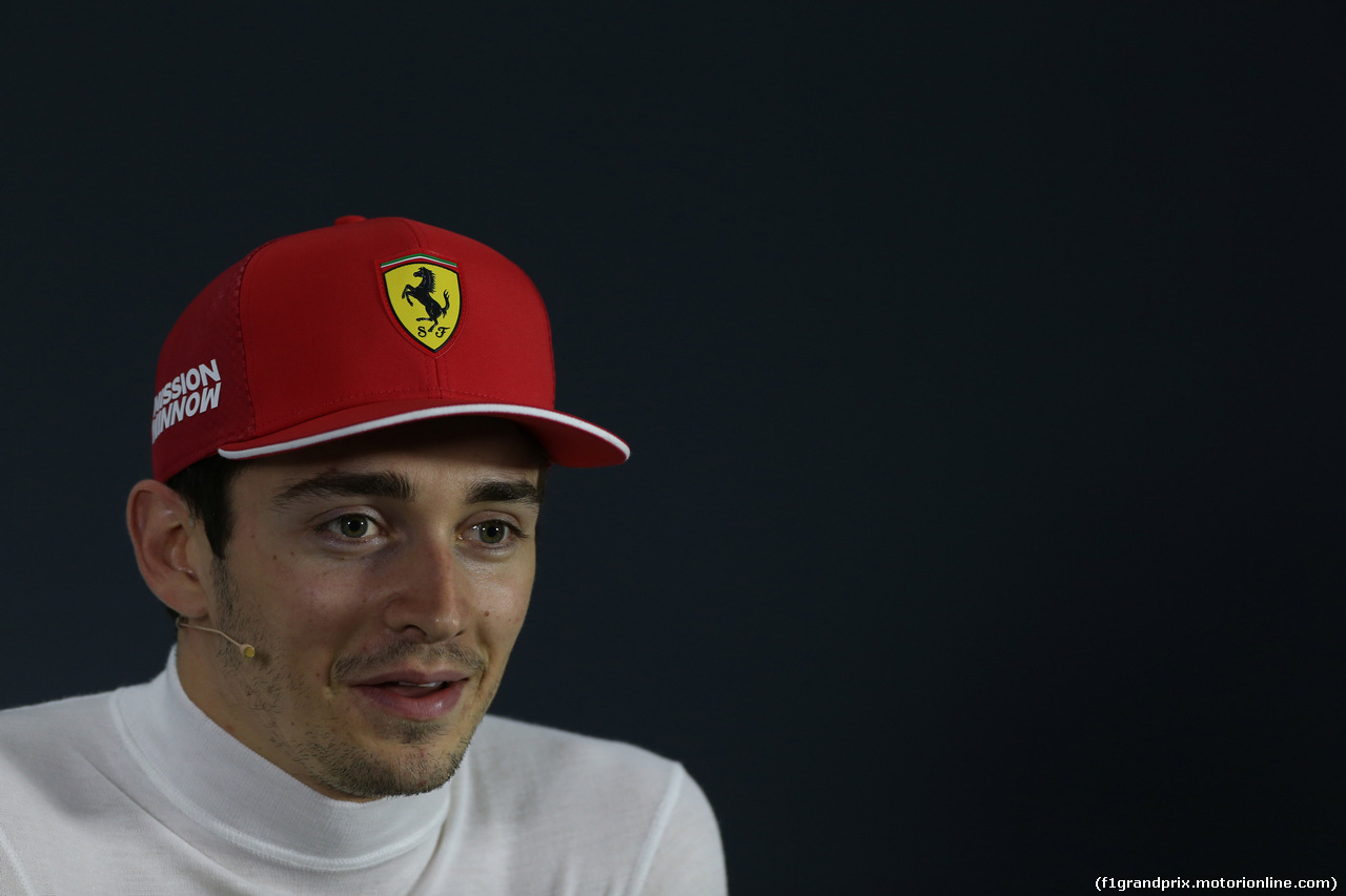 GP BAHRAIN, 31.03.2019- Official Fia press conference, Charles Leclerc (MON) Ferrari SF90