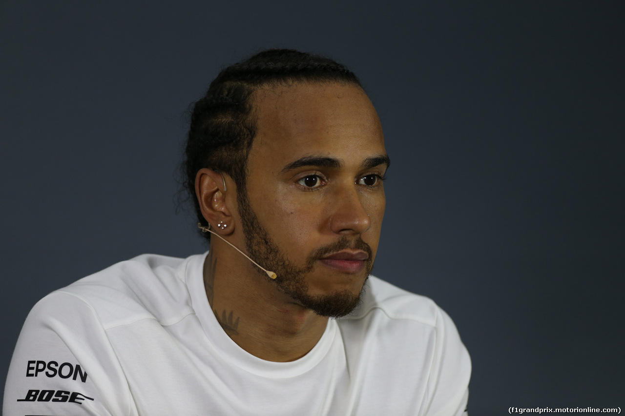 GP BAHRAIN, 31.03.2019- Official Fia press conference, Lewis Hamilton (GBR) Mercedes AMG F1 W10 EQ Power
