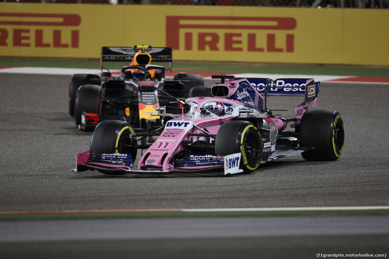 GP BAHRAIN, 31.03.2019- Gara, Sergio Perez (MEX) Racing Point F1 RP19