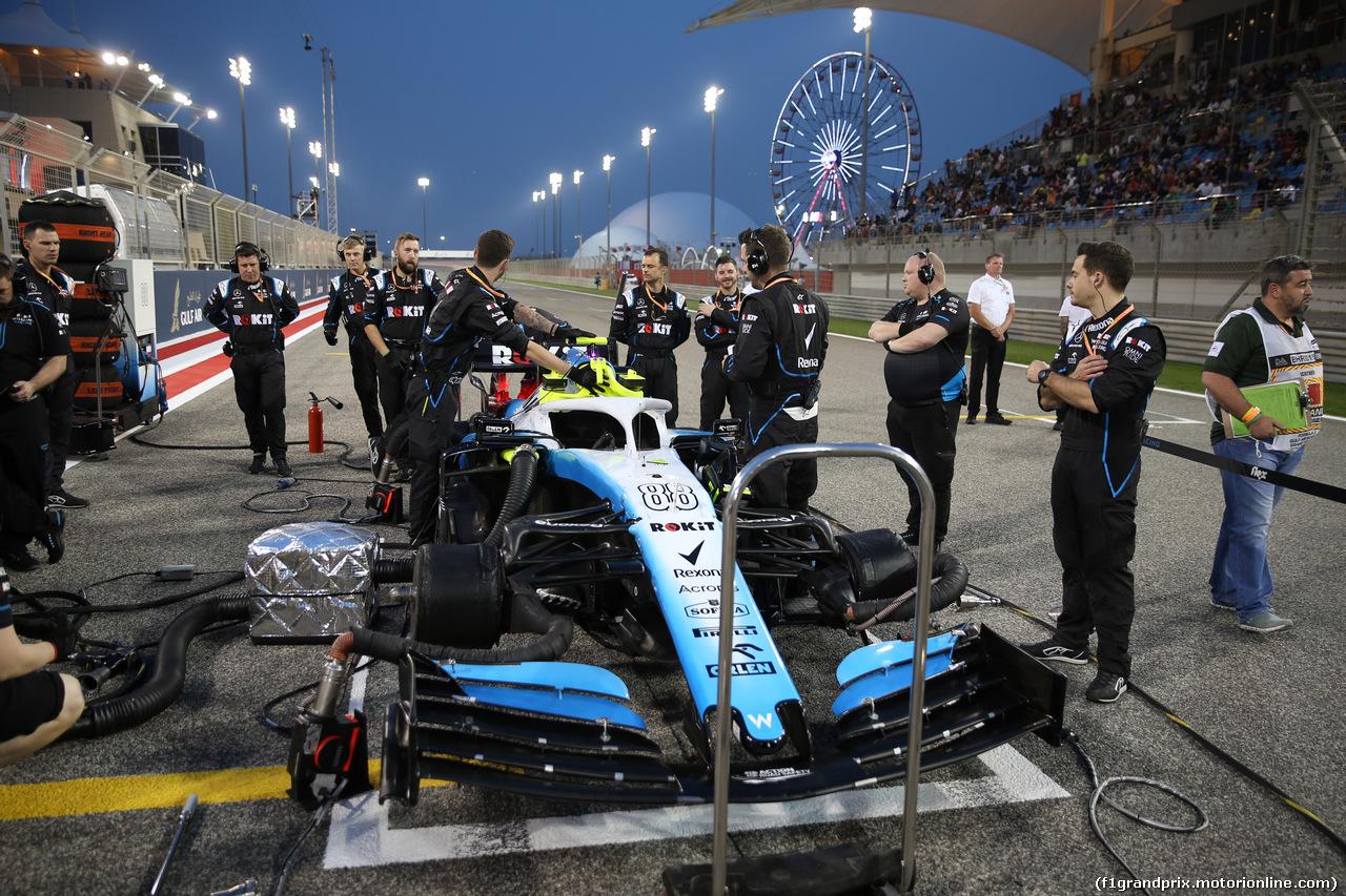 GP BAHRAIN, 31.03.2019- partenzaing grid, Robert Kubica (POL) Williams F1 FW42