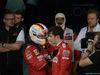 GP BAHRAIN, 31.03.2019- Parc ferme, Sebastian Vettel (GER) Ferrari SF90 e Charles Leclerc (MON) Ferrari SF90