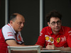 GP BAHRAIN, 28.03.2019- Frederic Vasseur (FRA) Alfa Romeo Racing Team Principal e Mattia Binotto (ITA) Ferrari Team Principal