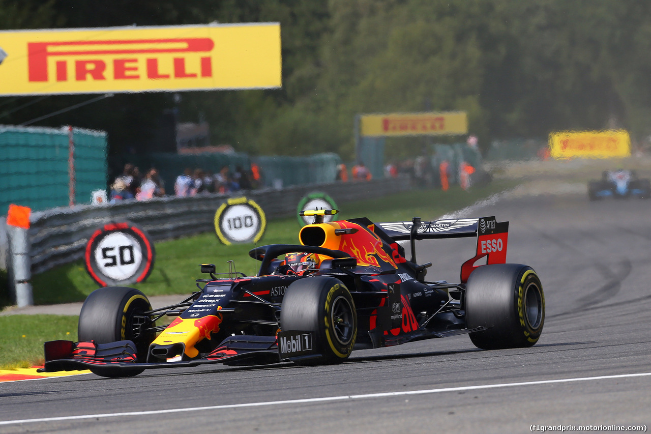 GP BELGIO, 01.09.2019 - Gara, Alexander Albon (THA) Red Bull Racing RB15
