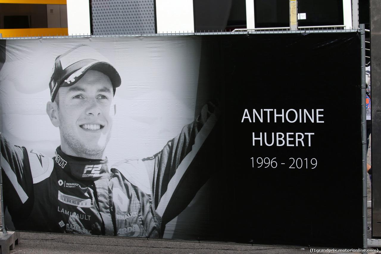 GP BELGIO, 01.09.2019 - Gara, A tribute a Anthoine Hubert (FRA)