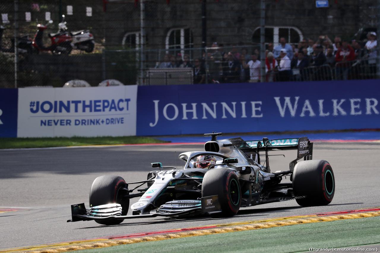 GP BELGIO, 01.09.2019 - Gara, Lewis Hamilton (GBR) Mercedes AMG F1 W10
