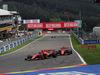 GP BELGIO, 01.09.2019 - Charles Leclerc (MON) Ferrari SF90 overtake Sebastian Vettel (GER) Ferrari SF90