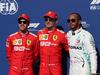 GP BELGIO, 31.08.2019 - Qualifiche, 2nd place Sebastian Vettel (GER) Ferrari SF90, Charles Leclerc (MON) Ferrari SF90 pole position e 3rd place Lewis Hamilton (GBR) Mercedes AMG F1 W10