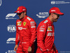 GP BELGIO, 31.08.2019 - Qualifiche, Charles Leclerc (MON) Ferrari SF90 pole position e 2nd place Sebastian Vettel (GER) Ferrari SF90
