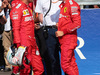 GP BELGIO, 31.08.2019 - Qualifiche, 2nd place Sebastian Vettel (GER) Ferrari SF90 e Charles Leclerc (MON) Ferrari SF90 pole position