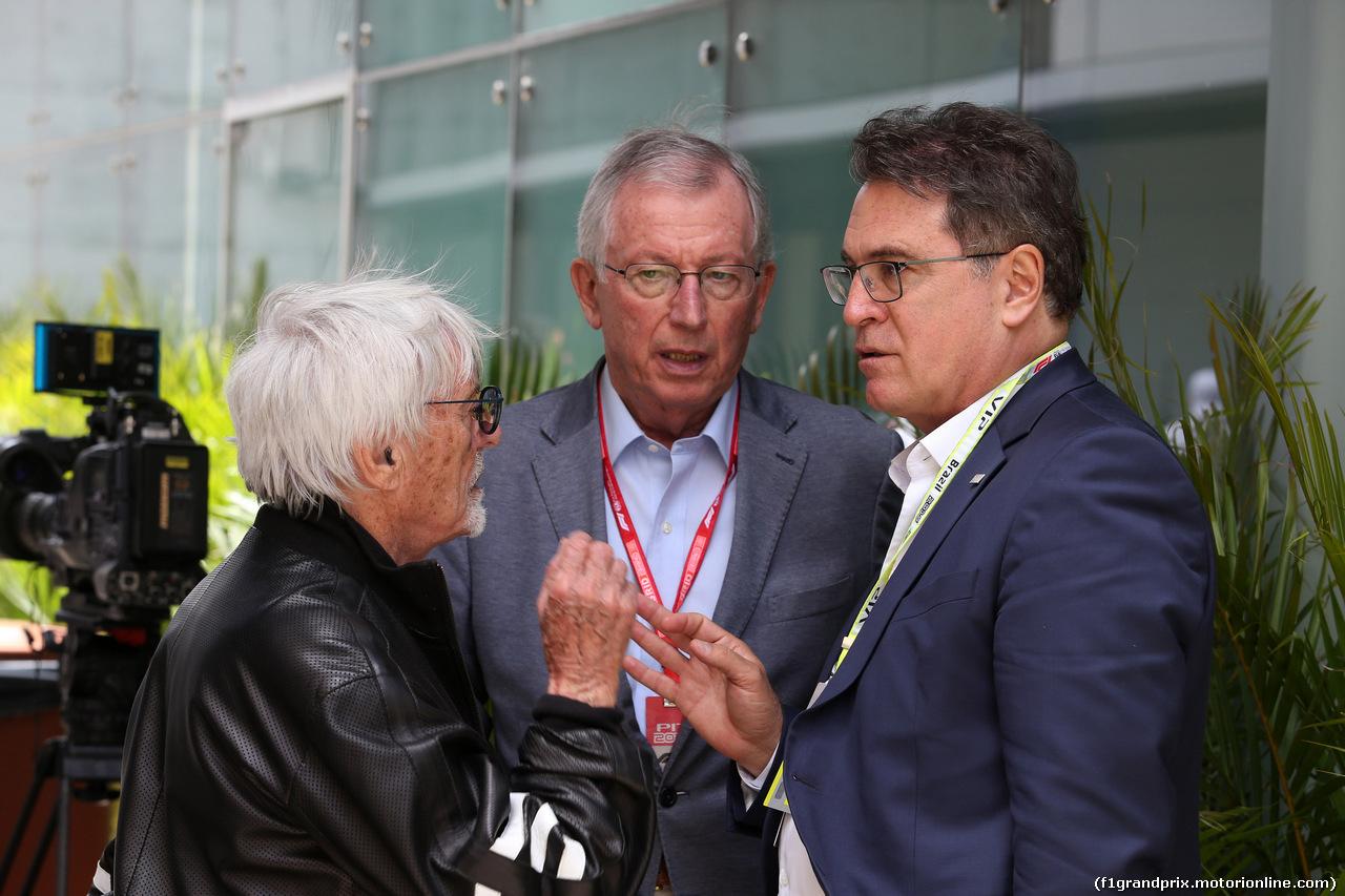 GP BRASILE, 17.11.2019 - (L-R) Bernie Ecclestone (GBR) e Tamas Rohonyi (BRA) GP Brasil promotor