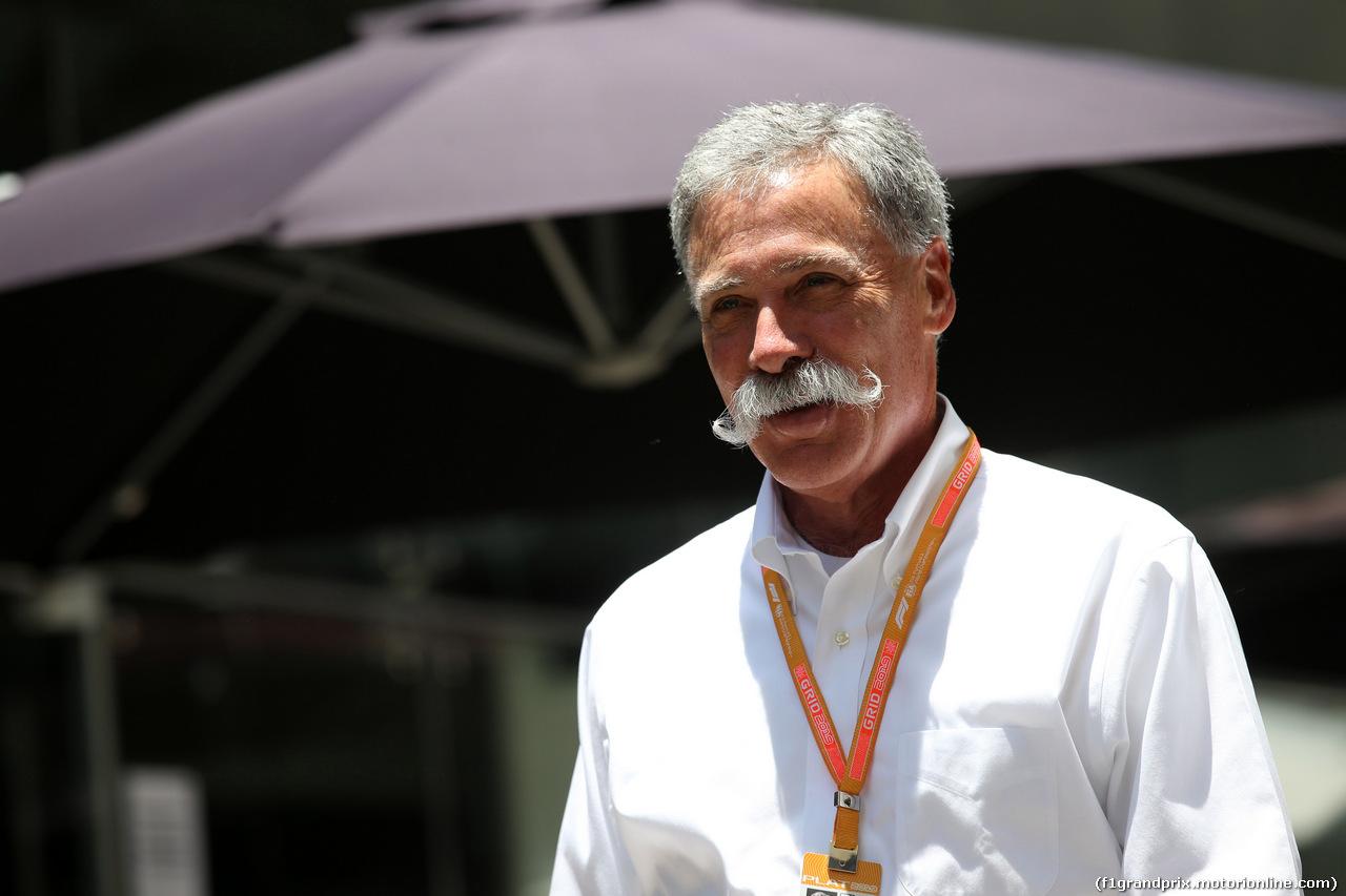 GP BRASILE, 17.11.2019 - Chase Carey (USA) Formula One Group Chairman