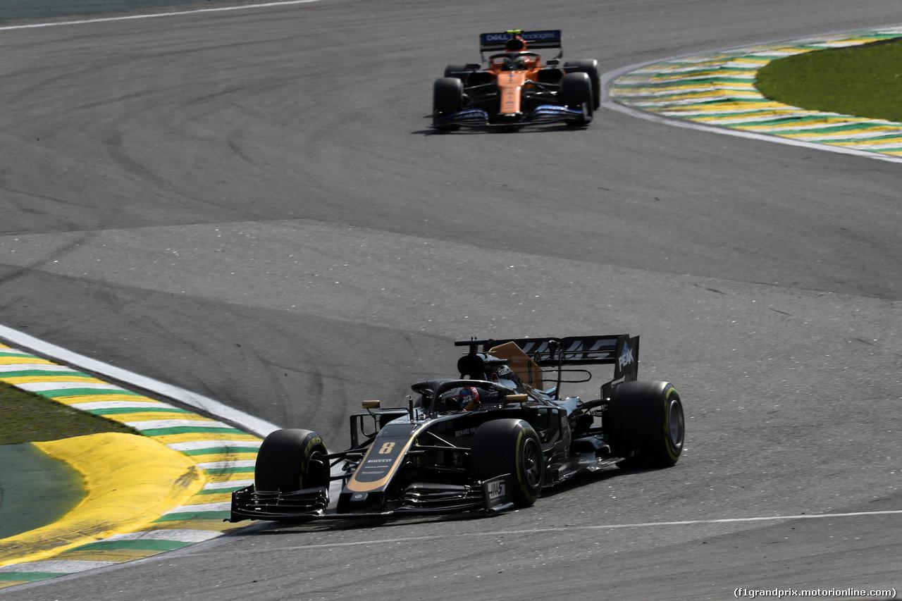 GP BRASILE, 17.11.2019 - Gara, Romain Grosjean (FRA) Haas F1 Team VF-19