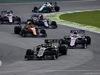GP BRASILE, 17.11.2019 - Gara, Romain Grosjean (FRA) Haas F1 Team VF-19 e Sergio Perez (MEX) Racing Point F1 Team RP19
